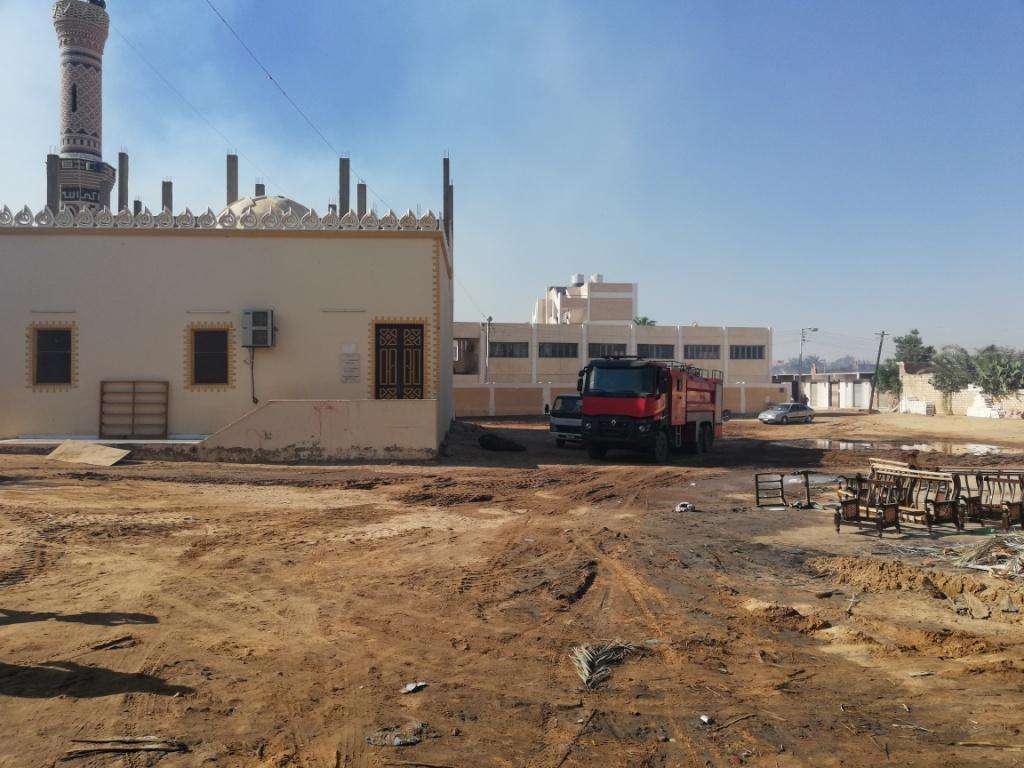 اللقطات الأولى لخسائر حريق الراشدة  (8)
