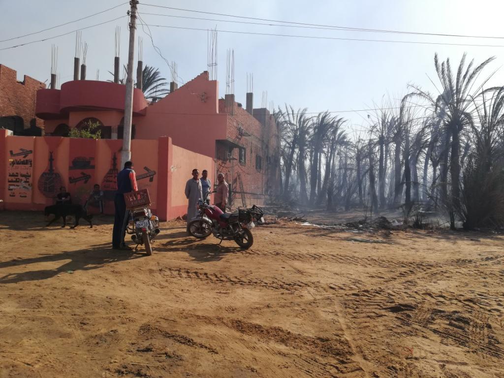 اللقطات الأولى لخسائر حريق الراشدة  (10)