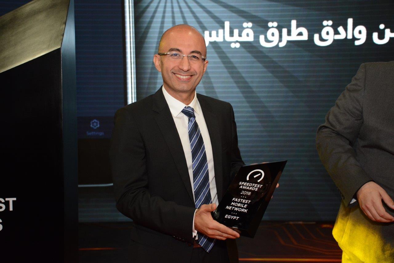 المهندس ياسر شاكر يحتفل بحصول اورنج على جائزة أسرع شبكة في مصر
