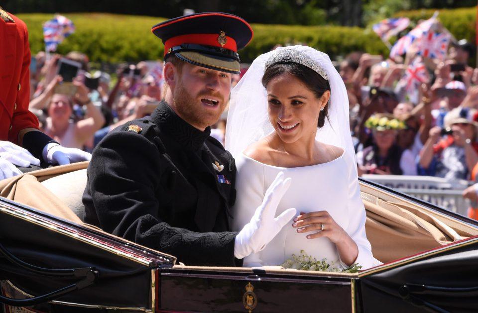 الأمير البريطاني مع زوجته ماركل
