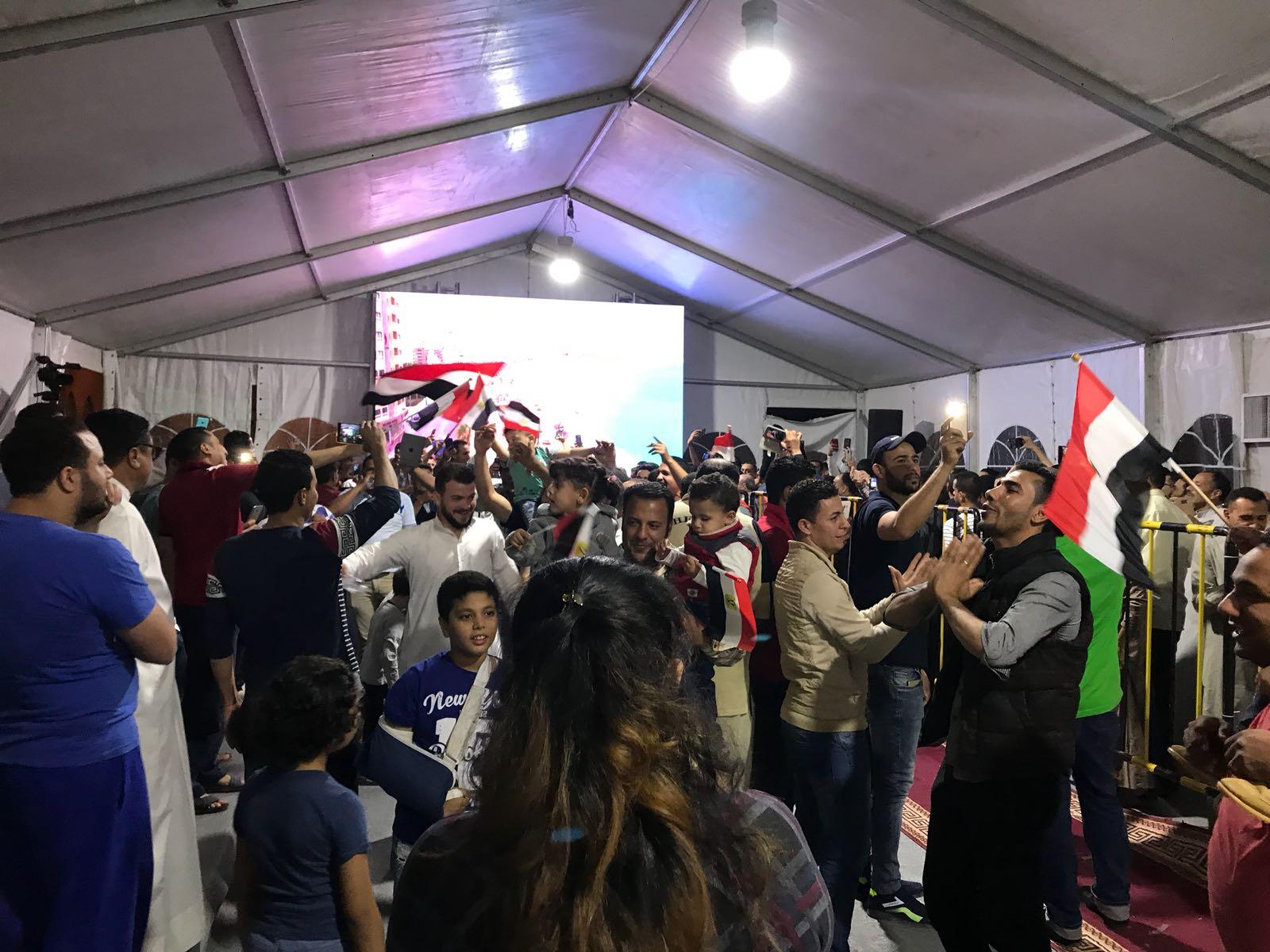 احتفالات المصريين بالانتخابات