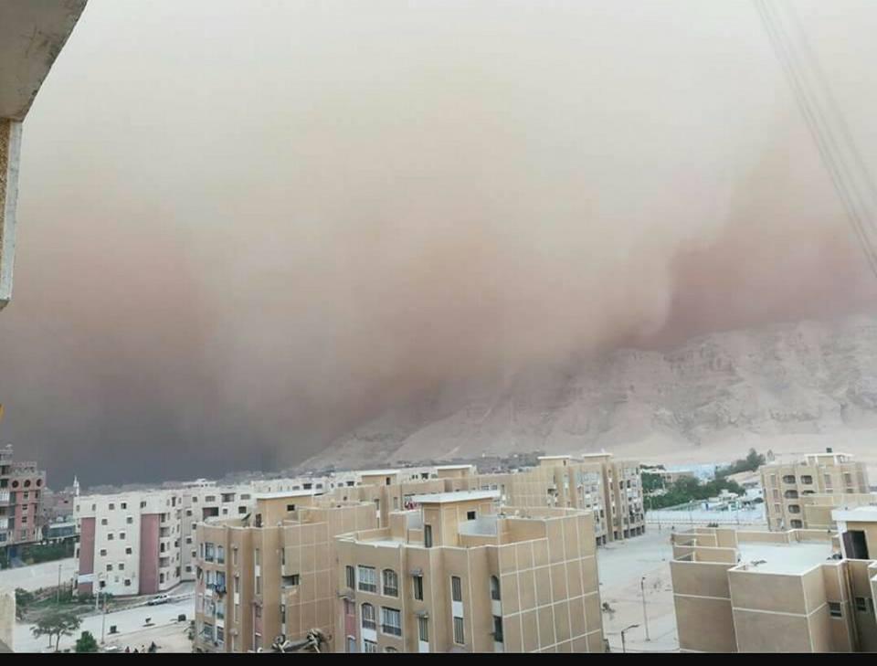 العاصفة الترابية على محافظة سوهاج (3)