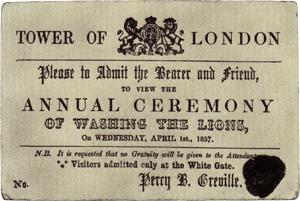 بطاقة الدعوة لحفلة غسل الأسود في لندن.