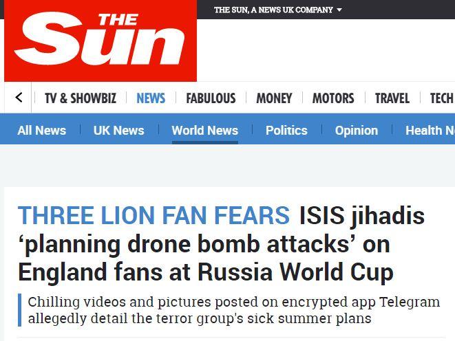 صحيفة ذا صن عن داعش