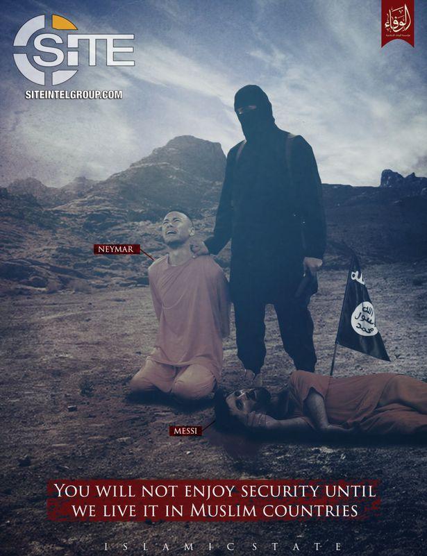 تهديد داعش لميسي ونيمار