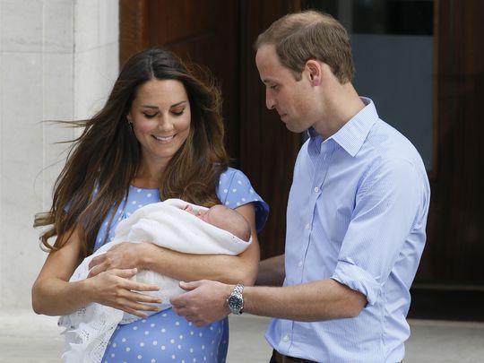وقت ولادة الأمير جورج
