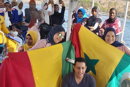 الأعلام الإفريقية فى أسوان