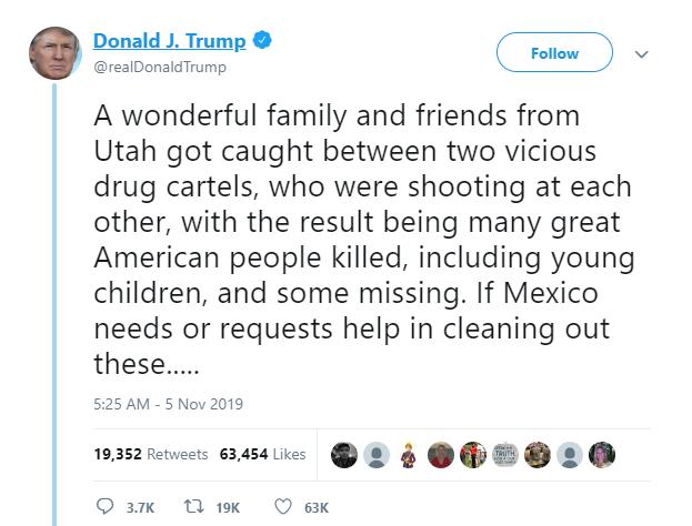 تغريدة ترامب