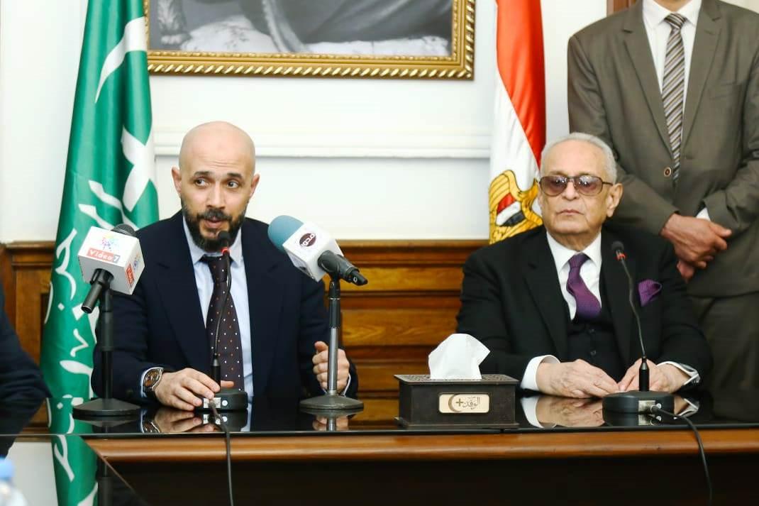 قيادات حزب الوفد تكرم جامعة مصر للعلوم والتكنولوجيا (7)
