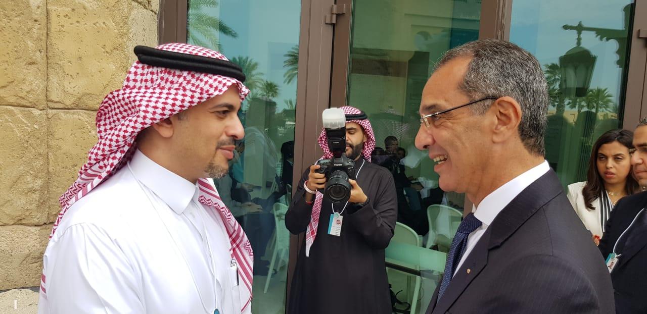 عمرو طلعت مع نائب وزير الاتصالات السعودي