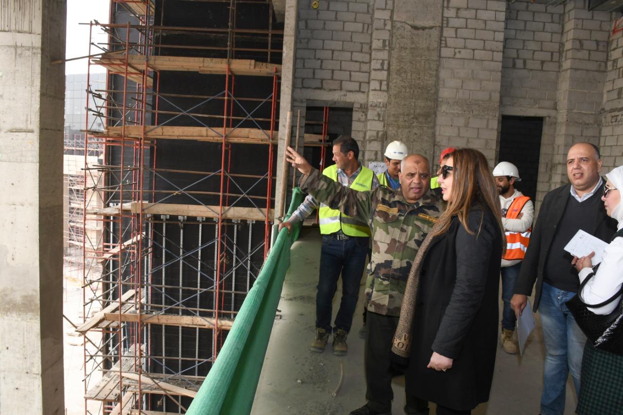 غادة لبيب في زيارة إلى العاصمة الإدارية الجديدة