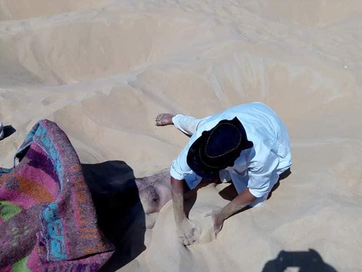 الدفن فى الرمال للاستشفاء من الأمراض