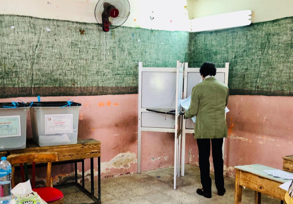 وزير الثقافة الأسبق فاروق حسني يدلي بصوته في انتخابات الشيوخ (7)