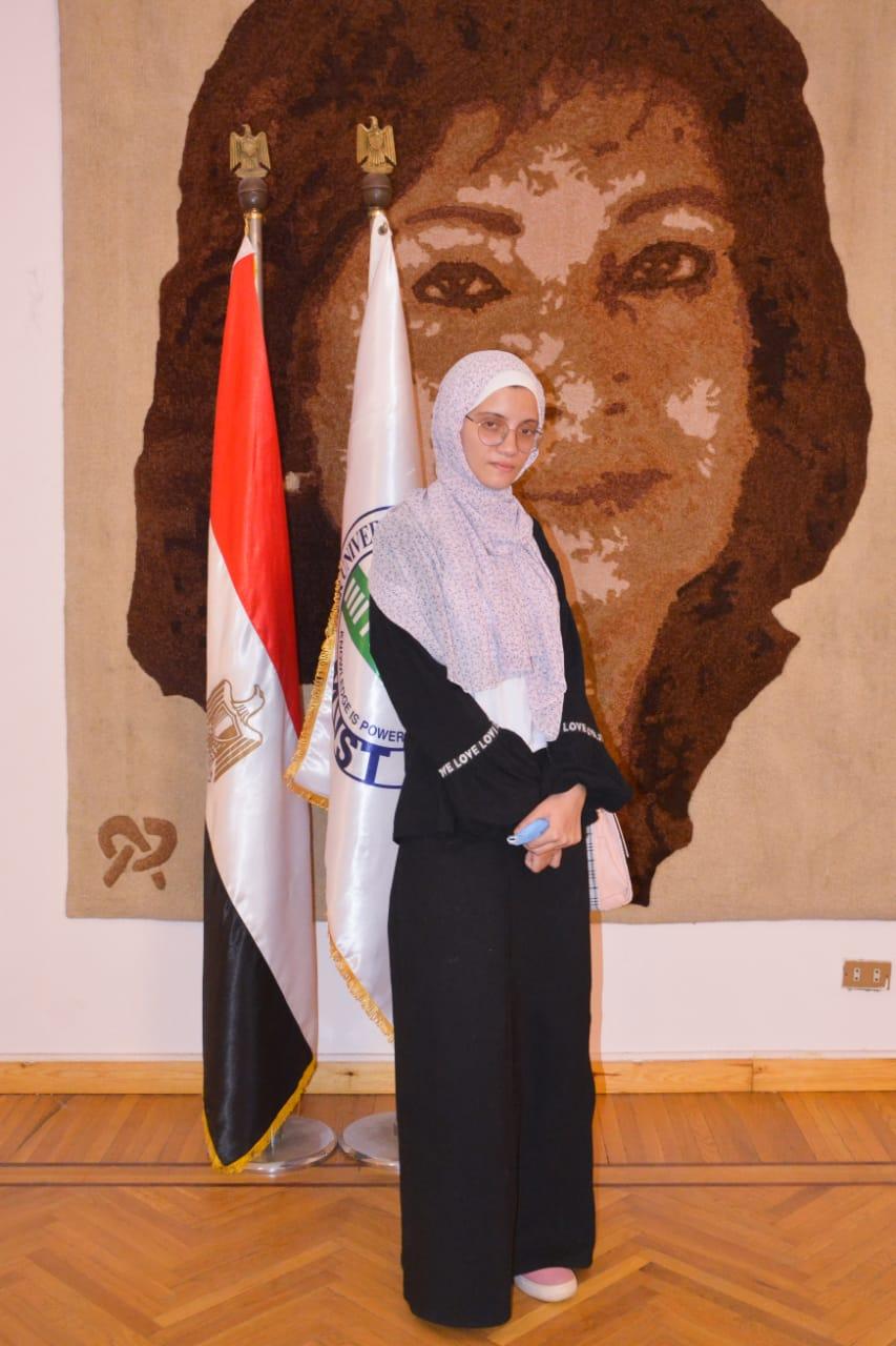 الطالبة نور الهدى عبد الغفار