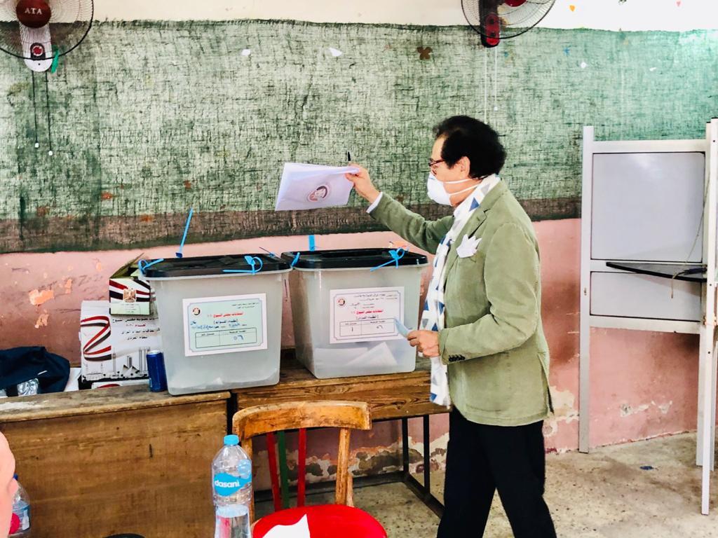 وزير الثقافة الأسبق فاروق حسني يدلي بصوته في انتخابات الشيوخ (10)