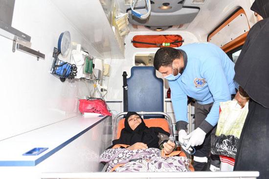 الرئيس السيسي يوجه بعلاج الطفلة شهد عصام بمركز طامية في الفيوم (13)