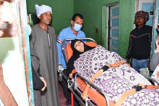 الرئيس السيسي يوجه بعلاج الطفلة شهد عصام بمركز طامية في الفيوم (1)