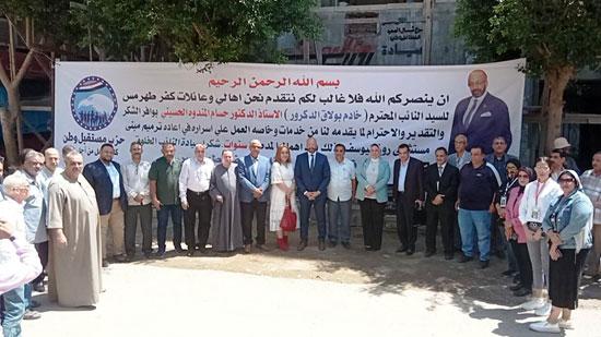 حسام المندوه يزور مستشفى روزاليوسف بكفر طهرمس بحضور وفد برلماني (2)