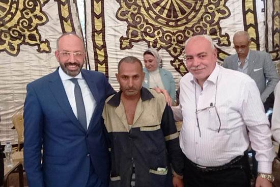 حسام المندوه يزور مستشفى روزاليوسف بكفر طهرمس بحضور وفد برلماني (1)