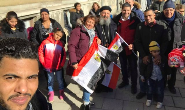 مشاركة الجالية المصرية بالسويد فى الانتخايات الرئاسية