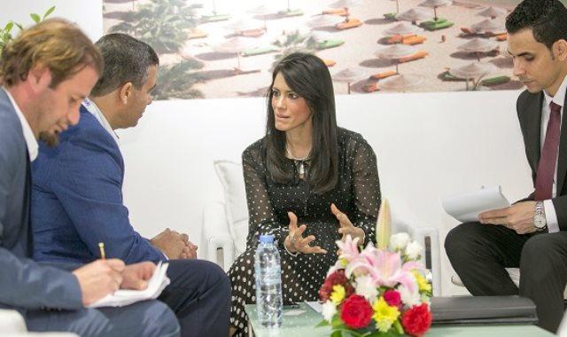 وزيرة السياحة رانيا المشاط في الملتقى العربى للسياحة والسفر ATM
