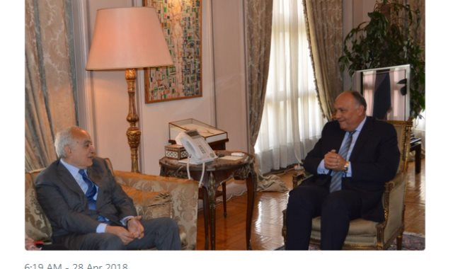 وزير الخارجية ومبعوث الأمم المتحدة لليبيا