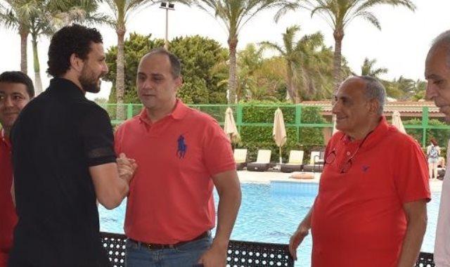 حسام غالي في معسكر الاهلى
