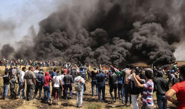 اضراب فى الأراضى الفلسطينية صورة أرشيفية