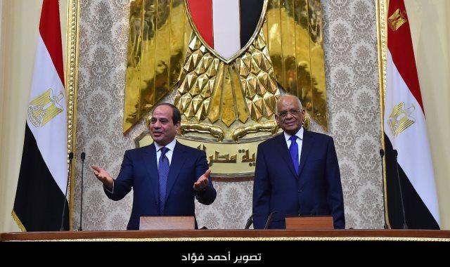 الرئيس السيسي خلال أداء اليمين الدستورية