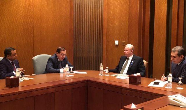 وزير البترول يلتقي كبرى قيادات الشركات العالمية