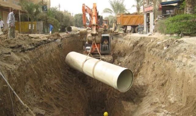 مشروعات الصرف بقنا وسوهاج