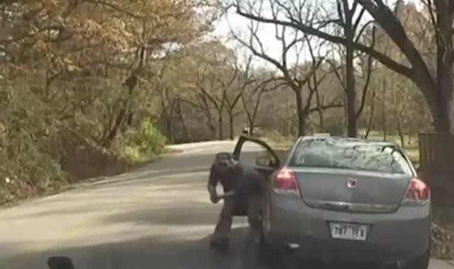 شخص يطلق الرصاص على شرطي بعد توقيف سيارته