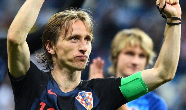 لوكا مودريتش لاعب المنتخب الكرواتى وريال مدريد الإسبانى