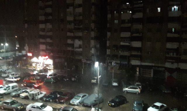 سقوط أمطار  بورسعيد