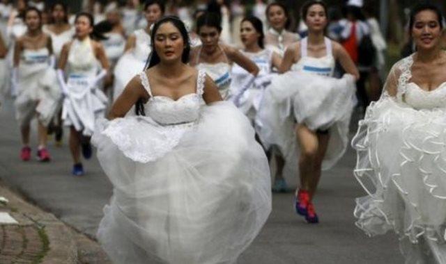 أغرب احتفال للعرائس فى العالم