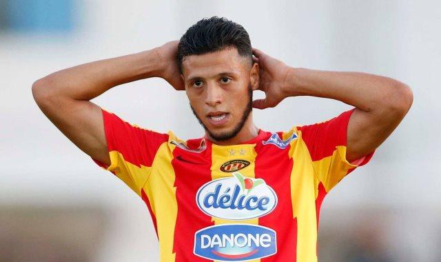 أنيس البدرى لاعب فريق الترجى التونسى