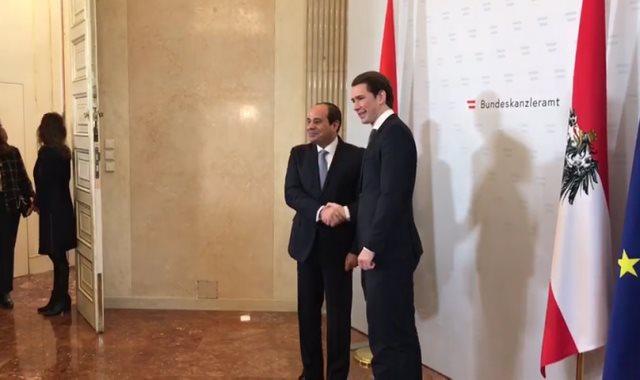 الرئيس السيسى والمستشار النمساوى سيباستيان كورتز
