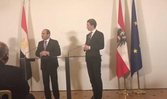 الرئيس السيسى والمستشار النسماوى سيباستيان كورتز