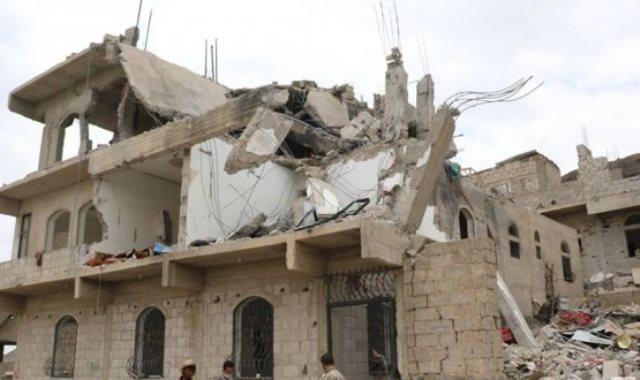 تدمير المنازل فى اليمن