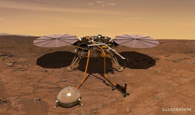 مسبار المريخ المركبة الفضائية