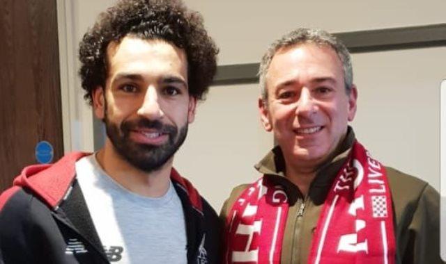سفير مصر فى لندن مع محمد صلاح