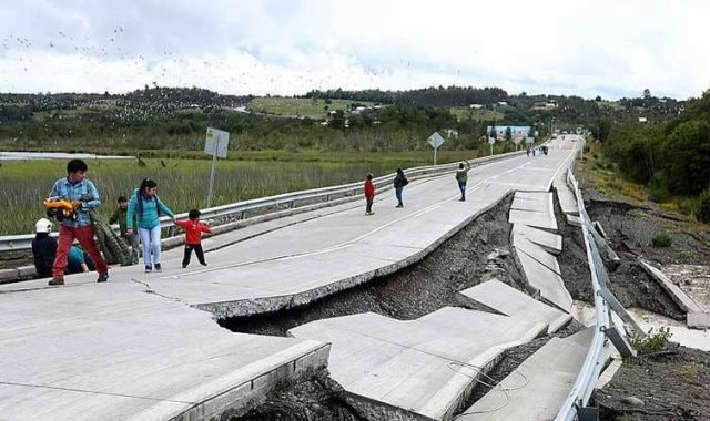 زلزال فى تشيلى