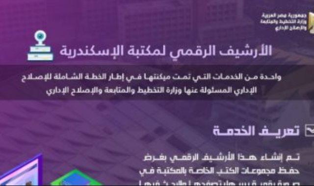 تطوير الارشيف الرقمى لمكتبة الاسكندرية