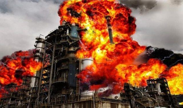حريق بمصفاة لتكرير النفط