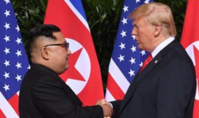 ترامب و كيم جونج
