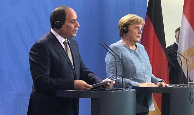 الرئيس السيسي والمستشارة الألمانية
