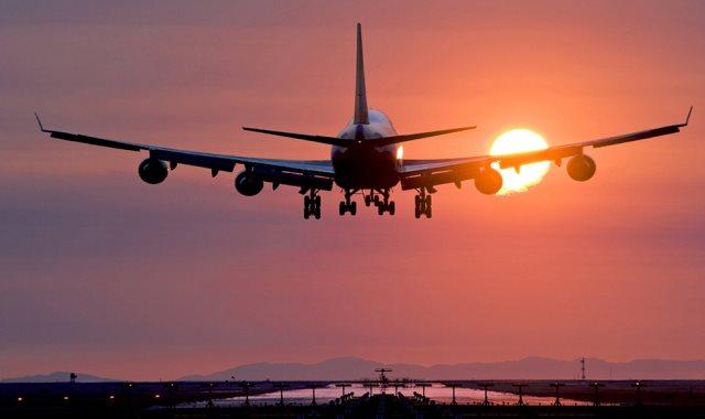 هبوط طائرة