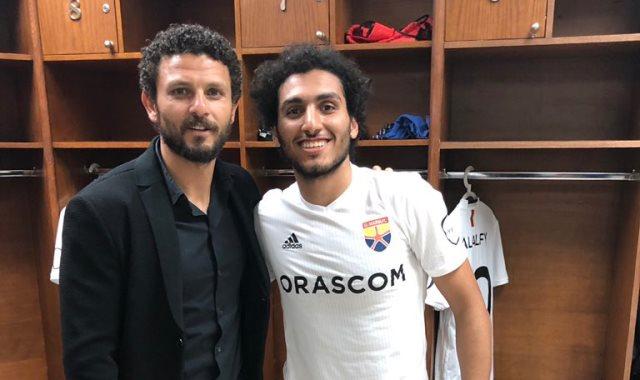 احمد حمدى مع حسام غالى