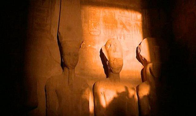 تعامد الشمس على معبد رمسيس الثانى بأبو سمبل- أرشيفية
