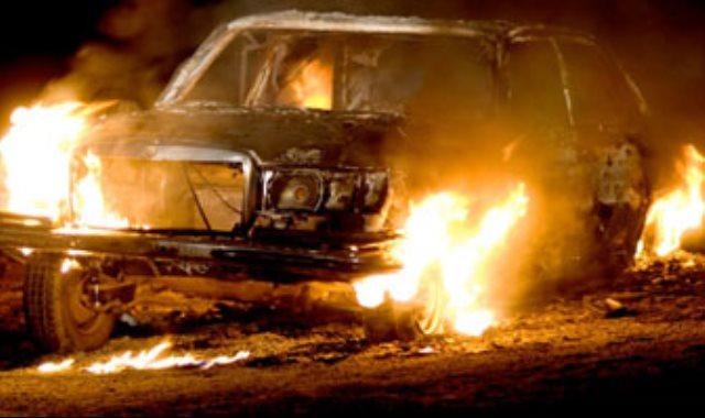 حريق بسيارة - أرشيفية